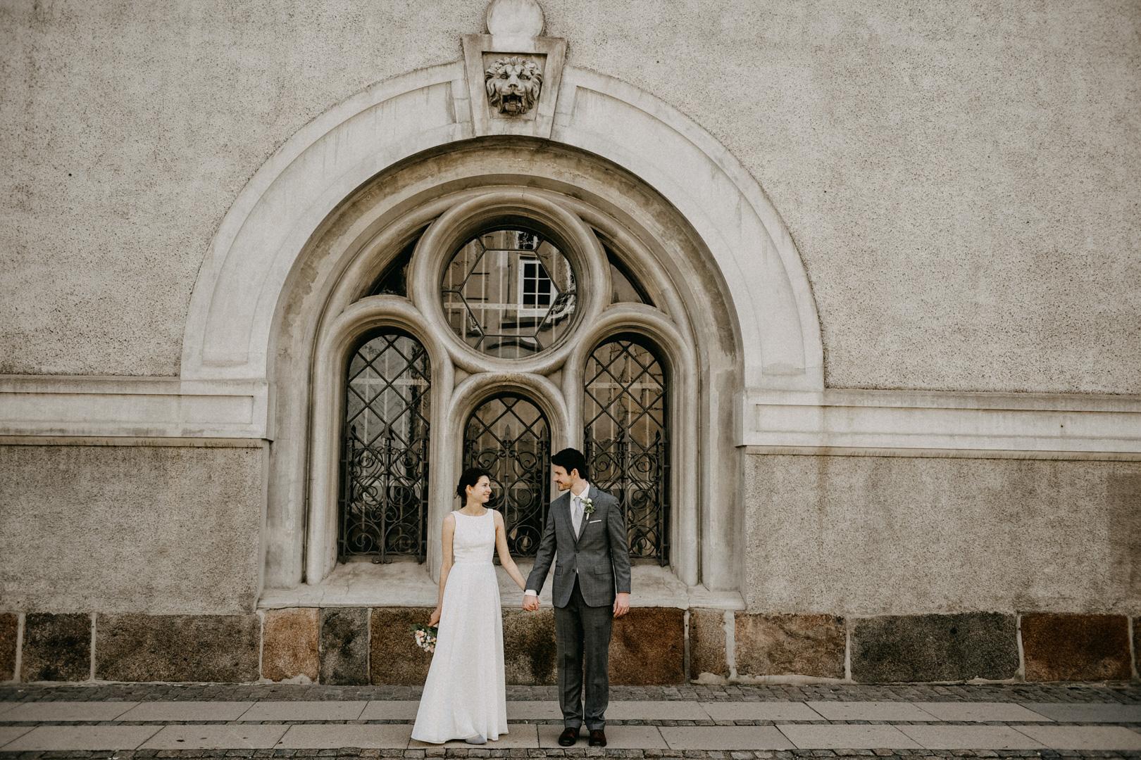 our wedding day in Copenhagen