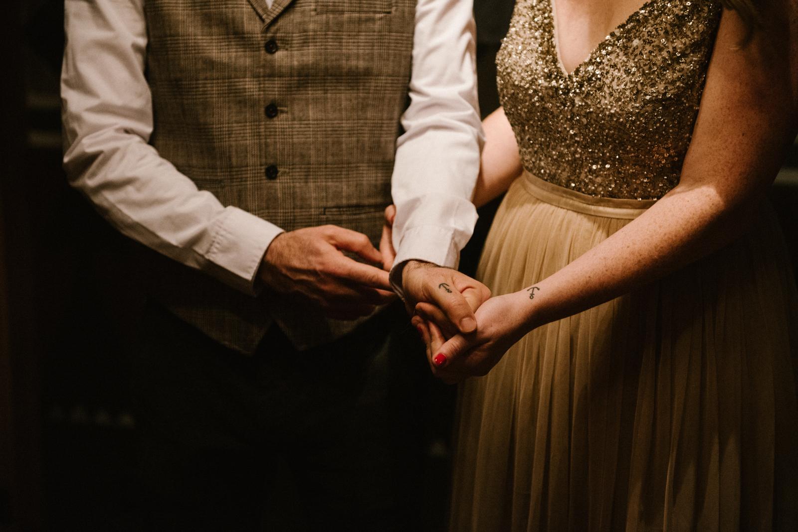 wedding couple tattoo