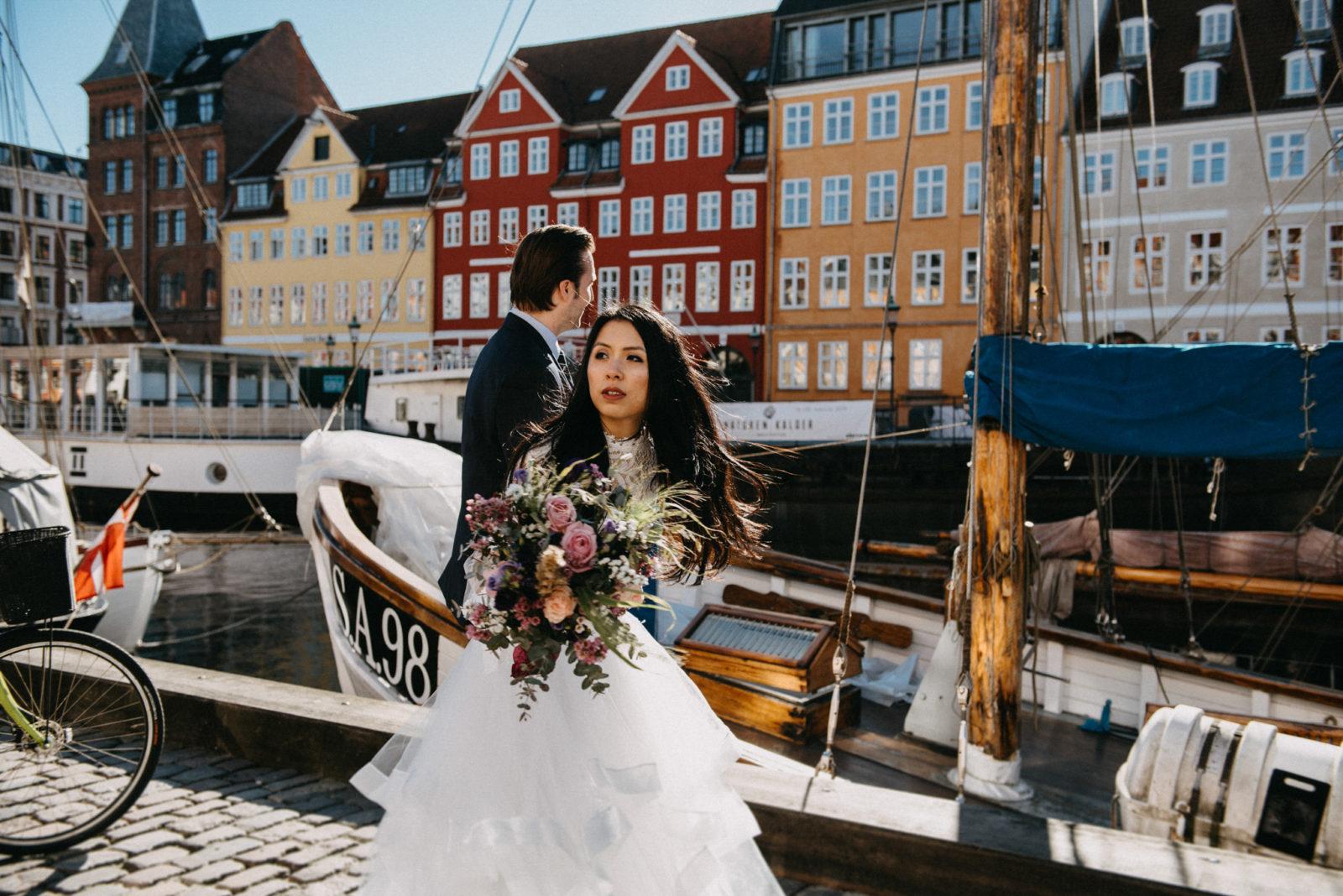 Wedding Photoshoot Nyhavn Copenhagen Denmark