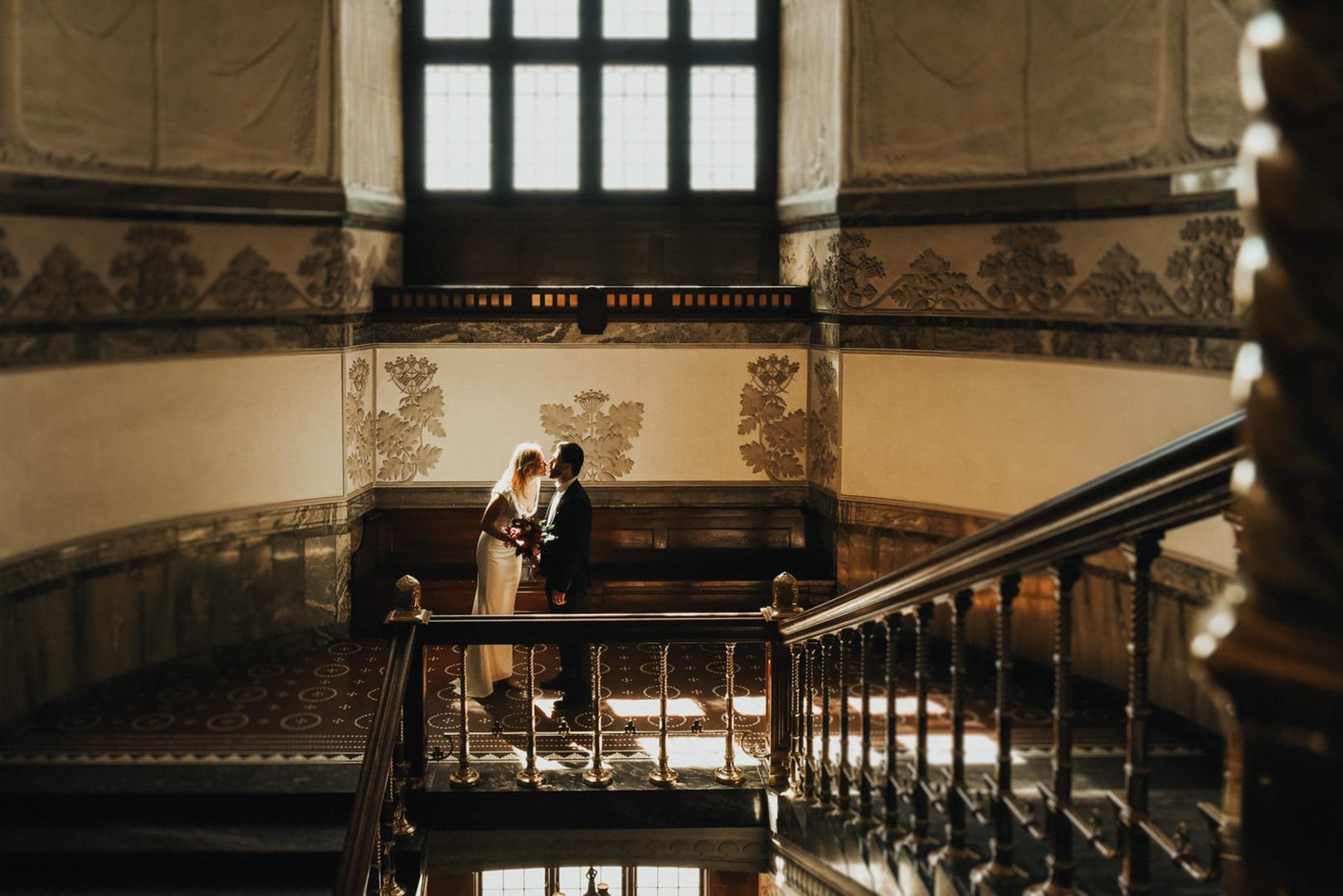 wedding day in copenhagen city hall