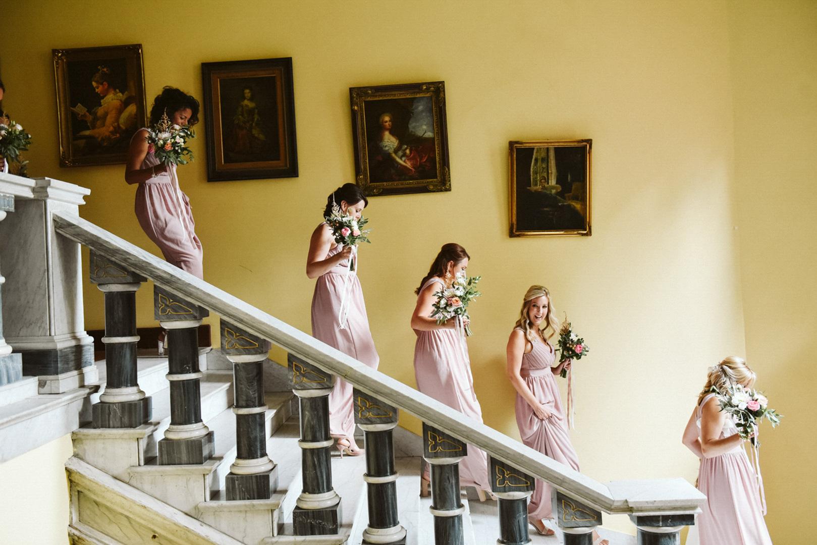 bridesmaids walking best photographer copenhagen